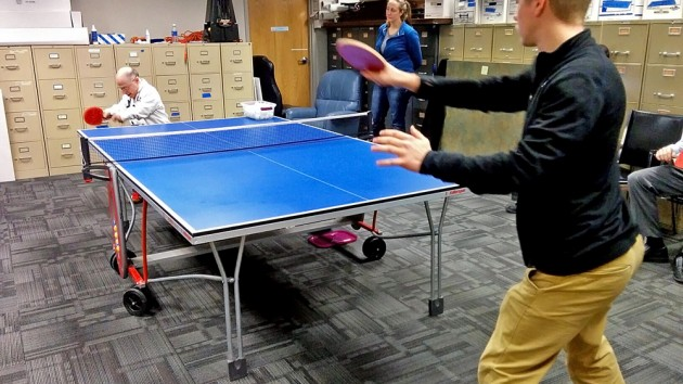 Mitchell Seidenfeld Teaches Table Tennis Clinic at EVS
